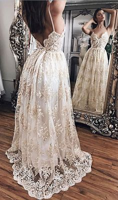 prom dress,prom dresses,Princess Prom Dresses,Lace V-neck Prom Dress,Straps Long Evening Gowns,Women Dresses,Open Back Prom Dresses,Lace Prom Gown,V-neck Prom Dresses