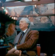 Frank Lloyd Wright at Taliesin West - I find his design so inspiring! It just makes since visually to me.