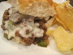 """Mrs. Schwartz's Kitchen: Philly Cheesesteak """"Sloppy Joe's"""""""