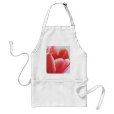 Red Tulip flower soft floral watercolor painting Adult Apron - diy individual customized design unique ideas