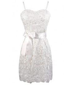 White Lace Dress-Lily Boutique