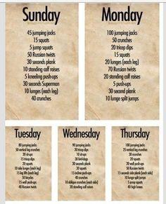 Weekplan