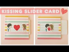 DIY | Kissing Slider Card Tutorial | Explosion Box Idea - YouTube