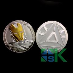 The Avengers Iron Man Challenge silver and gold plated Coin
