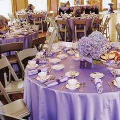 Lavender Wedding Reception