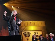 Randy Bachman is inducted into the Musicians Hall of Fame at the 2014 Musicians Hall of Fame Induction Ceremony at Nashville Municipal Auditorium on January 28, 2014 in Nashville, Tennessee.
