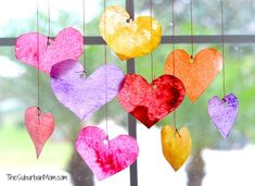 Valentine's Day Sun Catchers: Kids Craft ♥♥♥♥ ❤ ❥❤ ❥❤ ❥♥♥♥♥