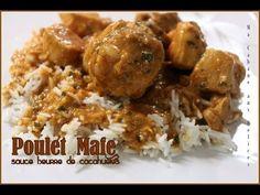 Mafé ou maffe au poulet. Un plat à la sauce dakatine (pâte d'arachide) très populaire en Afrique. Facile à faire, la recette ici est sénégalaise. Si vous