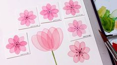 Image result for layered flower watercolor