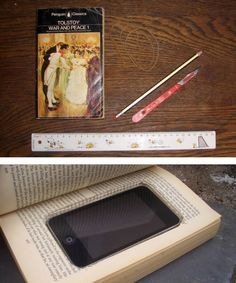 Create a decoy book case for your iPhone