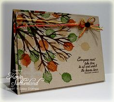 Autumn Tree Inspired FS294 by sweetnsassystamps - Cards and Paper Crafts at Splitcoaststampers