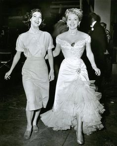 Ava Gardner and Lana Turner Who else watched the 90th Academy Awards?? #oldhollywood #avagardner #lanaturner #classichollywood #vintage #actress #perfection #favourites #stars #stunning #academyawards