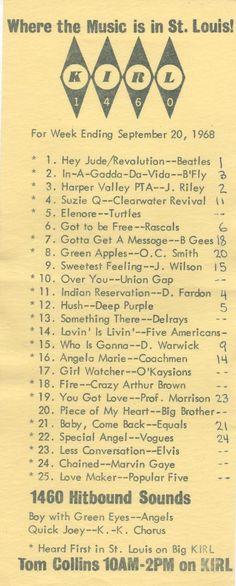 KIRL- Music Radio in St Louis 1968