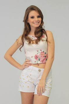 Blusa Cropped Floral R$ 35,80