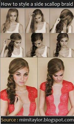 Vintage side ponytail