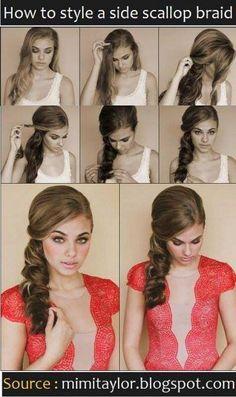 Vintage side ponytail