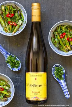 This is one of my go-to whites. Crisp and wonderfully aromatic it loves Asian cuisine and asparagus. And I have a recipe that ticks both boxes!