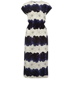 Mother of Pearl Navy Floral Silk Maxi Dress | Womenswear | Liberty.co.uk