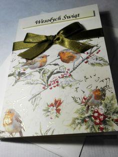 Handmade Christmas card with powdered gold. Kartka świąteczna. Na Boże Narodzenie.