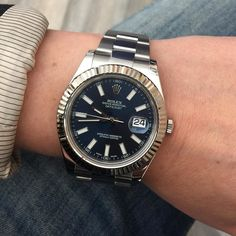 Rolex Datejust 116334 blue dial full set 2013s #rolexwatch #luxurywatchesrimini #datejust #116334 #bluedial #rimini #italy by luxurywatchesrimini