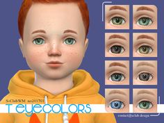 Eyes: Eyecolors 201703 by S-club from The Sims Resource Sims 4 Cc Eyes, Sims 4 Cc Skin, Sims Cc, Toddler Makeup, The Sims 4 Bebes, Los Sims 4 Mods, Colors For Toddlers, Sims 4 Children, Sims 4 Dresses