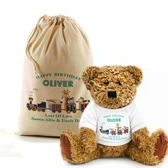 Personalised Bear In A Bag Birthday Gift Idea By Inspired Creative Design by InspiredCreativeGB on Etsy