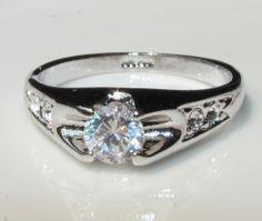 Swarovski Crystal Rings | ring 18k white gold gp swarovski crystal rings