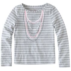 Striped Necklace Tee.