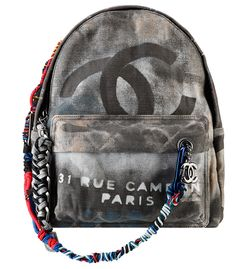 Chanel Graffiti Backpack