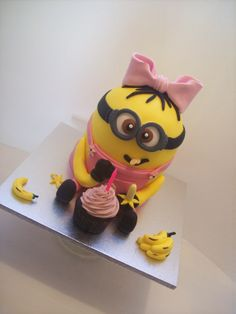 Another of my Girl minion Cakes Auckland $295