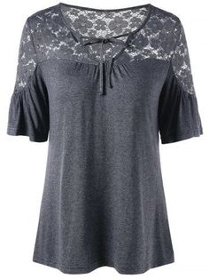 GET $50 NOW | Join RoseGal: Get YOUR $50 NOW!http://m.rosegal.com/blouses/tied-v-neck-lace-trim-1169524.html?seid=8919544rg1169524