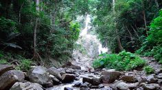 Huai To  waterfall, Krabi - -Thailand