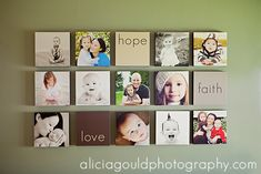 15 square wall displays