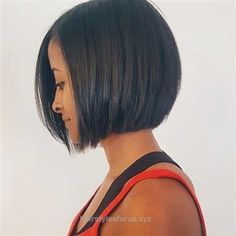 Incredible Dark sleek bob haircut, no stacked back... - #Bob #Dark #Haircut #Incredible #kinnlang #sleek #Stacked