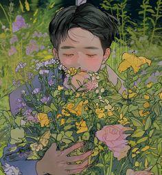 Kyungsoo, Kaisoo, Exo Cartoon, Exo Anime, Exo Fan Art, Fanart, Kpop Exo, Anime Scenery, Japanese Art