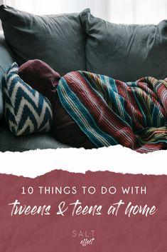 Top 10 Things to Do With Tweens & Teens at Home Activities For Teens, Time Activities, Family Activities, Teen Boys, Tween, Girls, Screen Time For Kids, Teen Summer, Parenting Teenagers