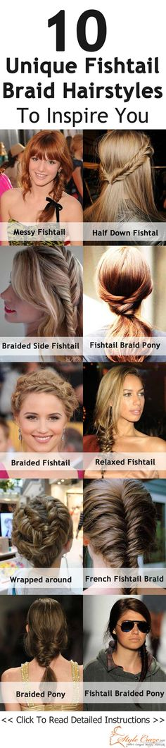 Here are a few of the fish tail braids styles that you can choose and sport