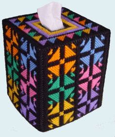LQQK Bold and Beautiful Boutique Size Tissue by NiftyStitches4U, $20.00