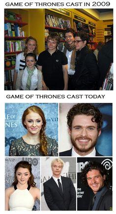 Game of Thrones cast- Jon and Sansa look so young!