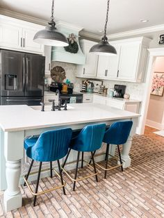 """EVERY SINGLE TIME I share my brick flooring, I get the question, """"looks pretty… but HOW do you clean it?!?!"""" #Cleaning #Flooring #BrickFloor How To Clean Brick, How Do You Clean, Brick Floor Kitchen, Floor Grout, Pinterest Home, Brick Flooring, Decorating On A Budget, Decoration, Craft"""