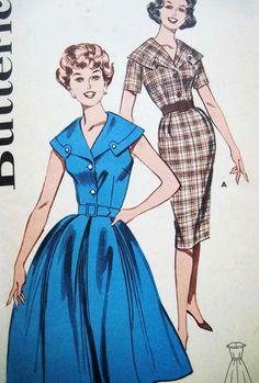 60s Butterick 9407 Slimliner Dress