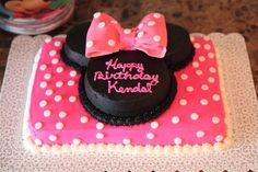 Probably MK's cake. Think this could be pretty easy to duplicate. This blog also has ideas of foods shaped like Minnie to serve. Remember this!
