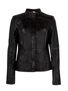 Ted Baker Marcii quilted leather jacket Black - House of Fraser