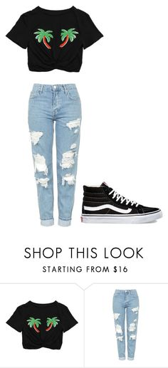 """Untitled #367"" by thenerdyfairy on Polyvore featuring Topshop and Vans"