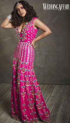 Aahana Kumra – Papa Don't Preach by Shubhika Indian Gowns Dresses, Indian Fashion Dresses, Indian Designer Outfits, Event Dresses, Fashion Outfits, Trendy Outfits, Designer Dresses, Mehendi Outfits, Indian Bridal Outfits