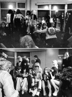 The New York Dolls photographed by Bob Gruen, Los Angeles, 1973.