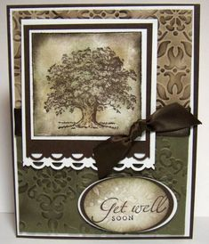 Curtain Call47 Get Well by Julie Gearinger - Cards and Paper Crafts at Splitcoaststampers