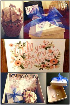my bridesmaids invitation boxes