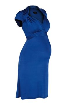Beautiful maternity dress - for pregnancy or breastfeeding - by Bb London UK