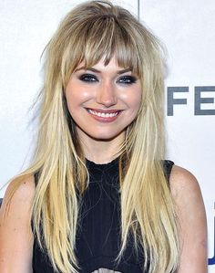 Imogen Poots Long Choppy Hairstyle | Casual, Everyday | Careforhair.co.uk